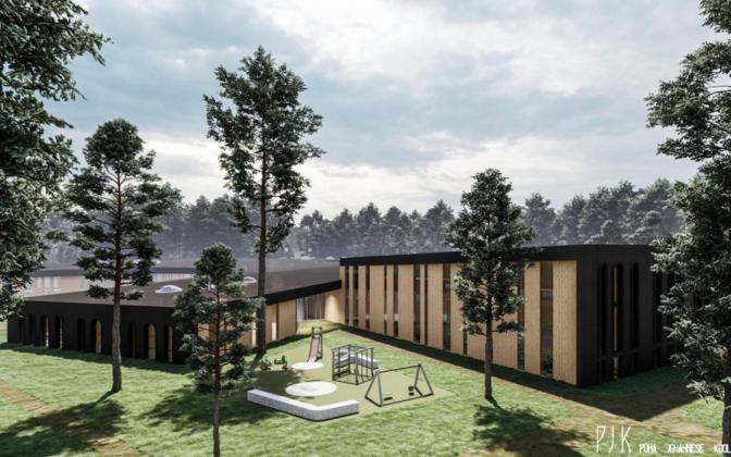Обещают, что здание школы органично впишется в ландшафт. Автор/источник фото: SKAD